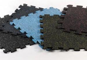 "24"" Interlocking Rubber Tiles Gym"