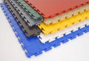 Easy Install Interlocking PVC Garage Floor Tiles