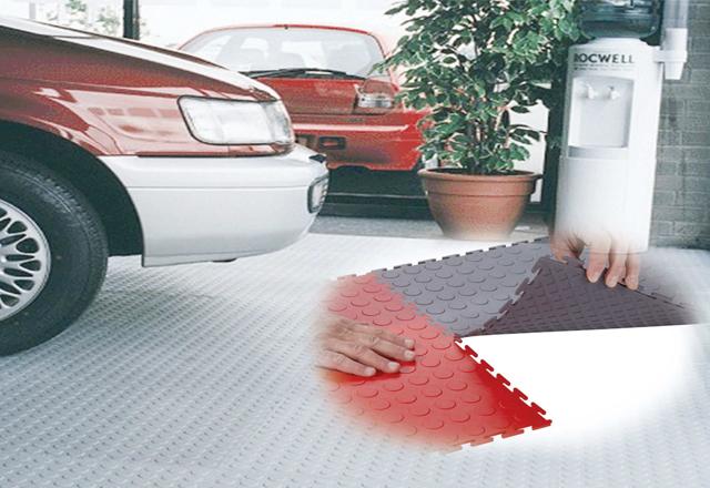 PVC garage floor