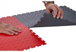 Heavy Duty Industrial floor PVC Tiles Interlocking
