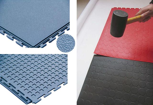 PVC tiles inside interlocking