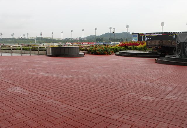 brick face rubber tiles 1mx1m size