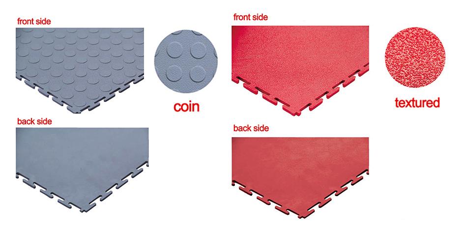coin PVC tiles garage